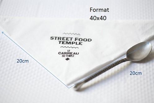 serviettes 40x40 blanches